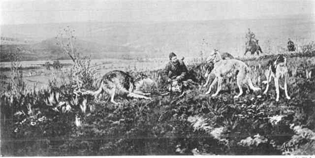 Alexey Danilovich Kivshenko. Takes wolf alive