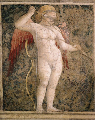 Piero della Francesca. Cupid blindfolded