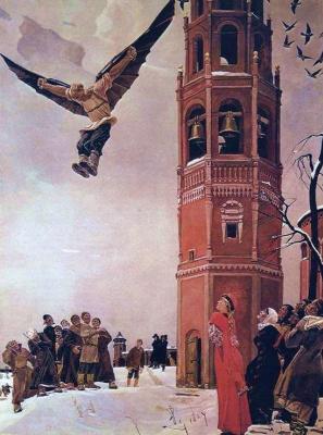 Alexander Alexandrovich Deineka. Nikita - the first Russian flyer