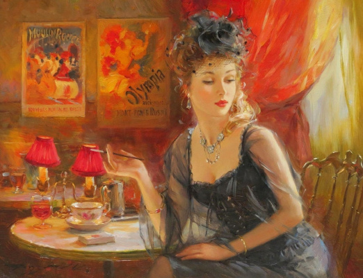 Constantine Razumov. The lady with the cigarette.