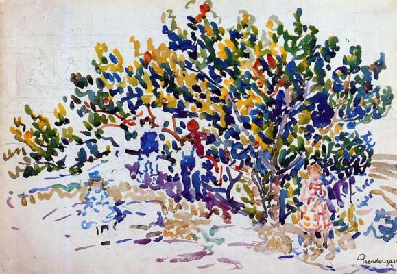 Maurice Braziel Prendergast. Children on the tree