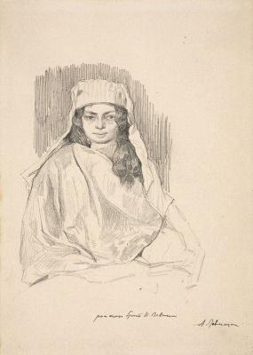 Isaac Levitan. The model in the Eastern veil