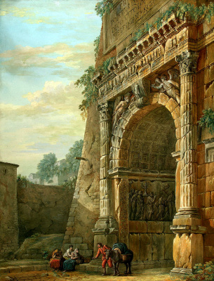 Charles-Louis Klerisso. Arch of Titus in Rome