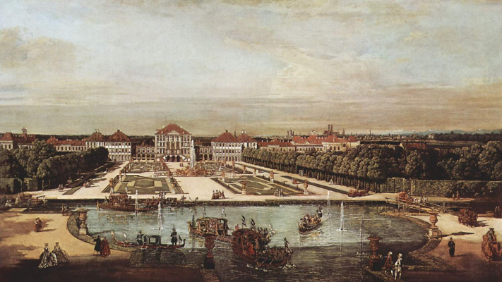 Giovanni Antonio Canal (Canaletto). West View of the Nymphenburg Palace in Munich