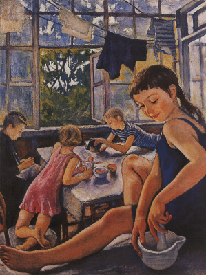 Zinaida Yevgenyevna Serebriakova. On the terrace in Kharkov