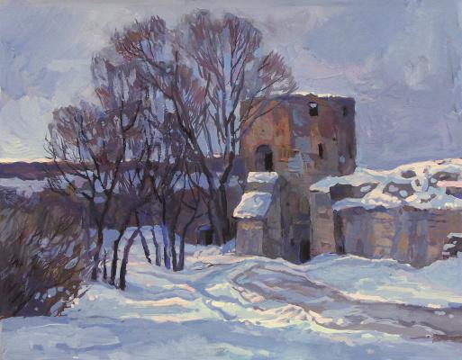 Oleg Borisovich Zakharov. Out the last light. Izborsk.