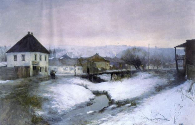 Sergey Ivanovich Svetoslavsky. Street county town. 1895