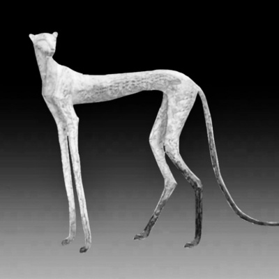 "(no name). Sculpture ""Leopard"""