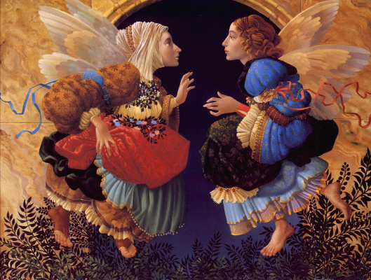 James Christensen. Two angels