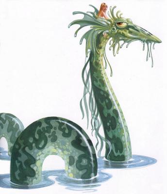 James Christensen. Miranda and Snakes