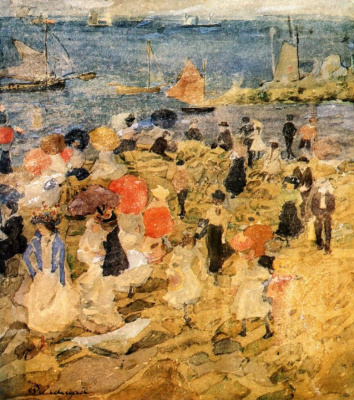 Maurice Braziel Prendergast. The beach in the early morning