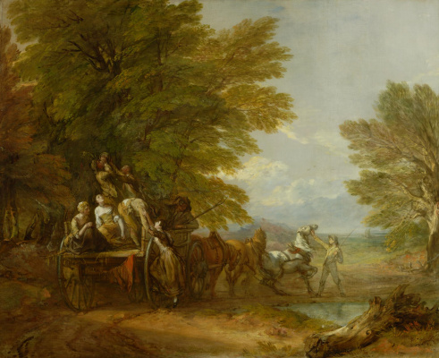 Thomas Gainsborough. Harvest on the wagon
