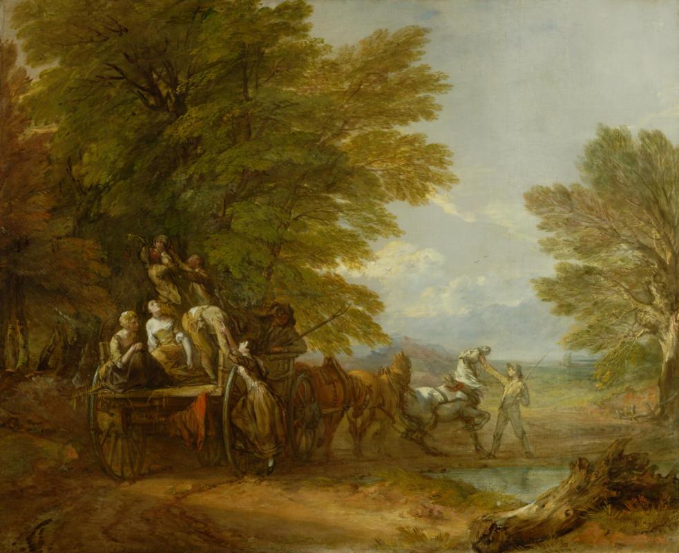 Томас Гейнсборо. Собранный урожай на повозке