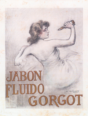 Ramon Casas i Carbó. Advertising poster of Gorgo liquid soap