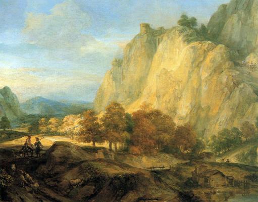 Гербранд ван ден Экхоут. Горный пейзаж