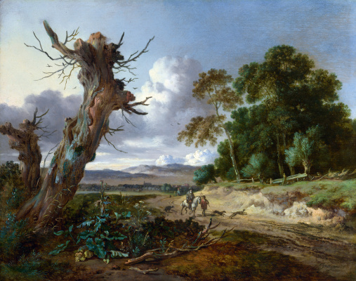 Yang Veinants. Landscape with two dead trees