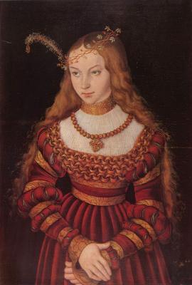Лукас Кранах Старший. Портрет принцессы Сибиллы Клевской в наряде невесты