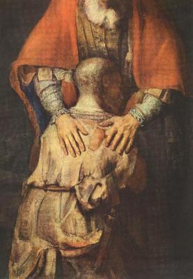 Рембрандт Харменс ван Рейн. Возвращение блудного сына, фрагмент