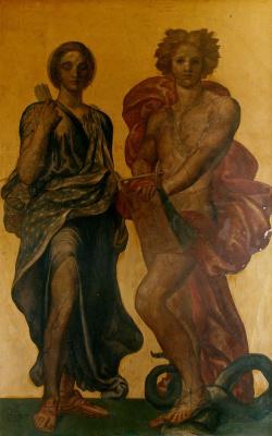 George Frederick Watts. Apollo and Diana