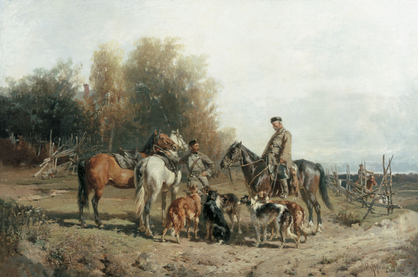 Rudolf Fedorovich Frenz. Fee hunting. 1887