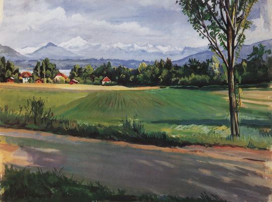 Zinaida Serebryakova. Swiss landscape near Geneva