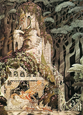 "Kay Nielsen. Illustration for the tale ""Shipovnik"" by the brothers Grimm"