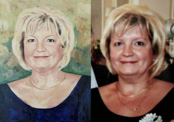 Olga Alexandrovna Suslova. Portraits to order, oil
