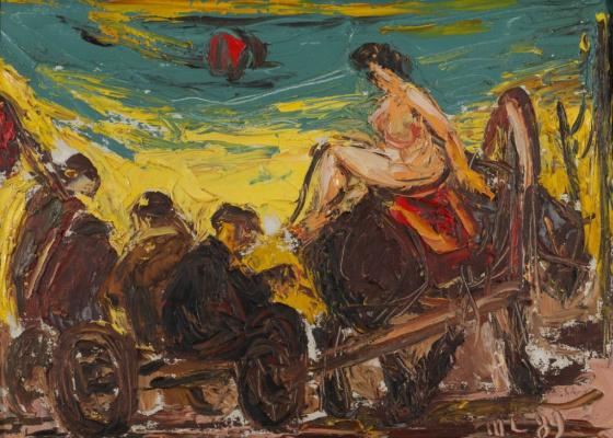 Anatoly Stepanovich Slepyshev. Nude on a horse
