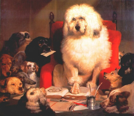 Edwin Henry Landseer. Dog with a book