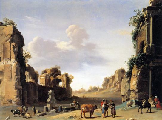 Корнелис ван Пуленбург. Римский Форум в 1620 году