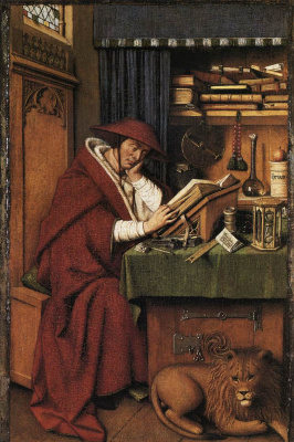 Jan van Eyck. St. Jerome in the cell
