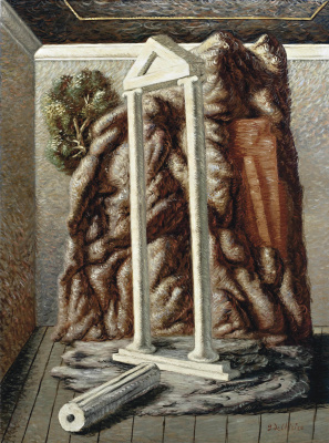 Giorgio de Chirico. The temple and the forest in the room