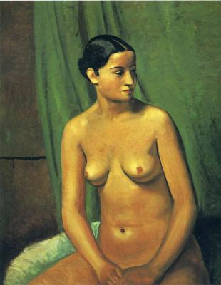 Andre Derain. Nude brunette
