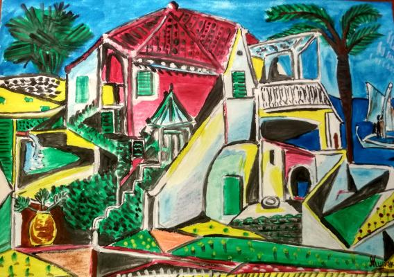 Андрей Куракин. Пейзаж по Пикассо