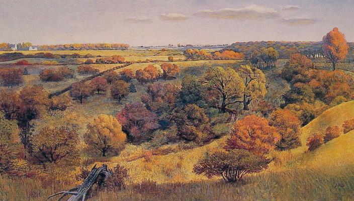 John Philip Falter. Valley in autumn