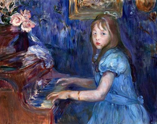Berthe Morisot. Julie Listening