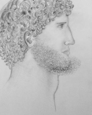 """Эскиз Леонардо да Винчи (один из учеников-подмастерьев по прозвищу """"Дьяволенок"""")"""