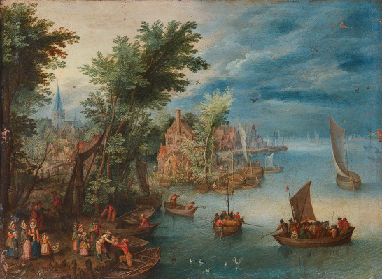 Jan Brueghel the Younger. River landscape