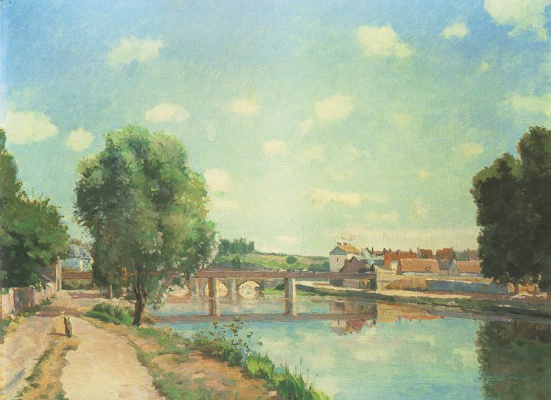 Camille Pissarro. Railway bridge at PONTOISE