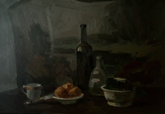 Anna Glazunova. Still life with a white cup