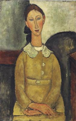 Amedeo Modigliani. The girl in the yellow dress