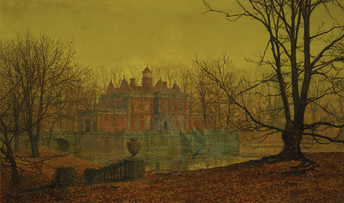 John Atkinson Grimshaw. Secluded House in Yorkshire