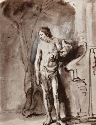 Rembrandt Harmenszoon van Rijn. Standing Nude