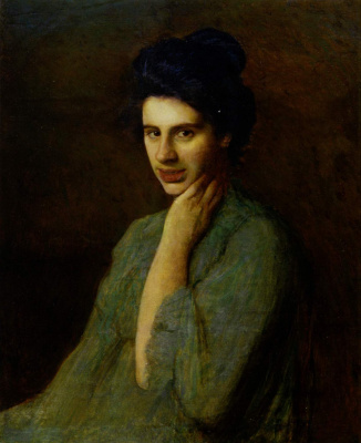 Ivan Ivanovich Trush. Portrait of A. M. Trush-Dragomanova, artist's wife (author's repetition)