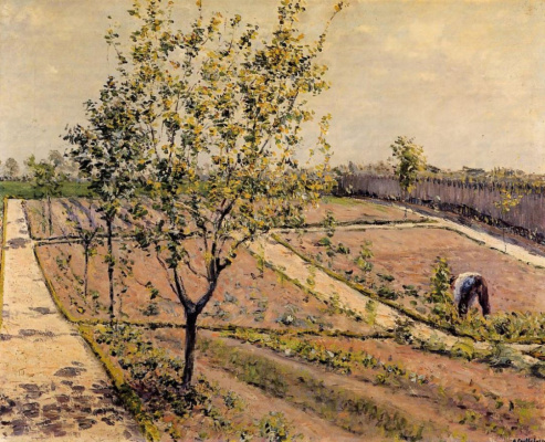 Gustave Caillebotte. The garden in Petit Jeweler