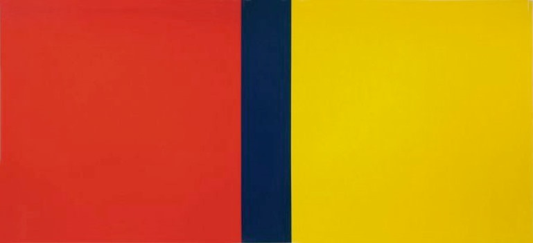 Barnett Newman. Who's afraid of red, yellow and blue IV