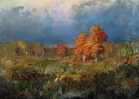 Fedor Alexandrovich Vasilyev. Swamp in the forest. Autumn