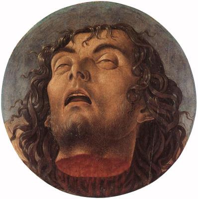 Giovanni Bellini. Head of John the Baptist