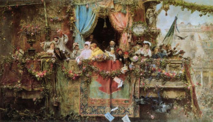 Хосе Бенльуре-и-Хиль. Карнавал в Риме