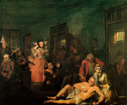 William Hogarth. Mota's career. Madhouse